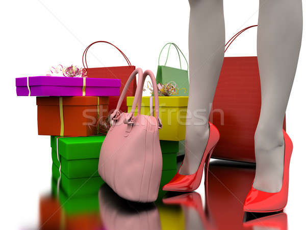 Bags, shopping and gifts Stock photo © anyunoff