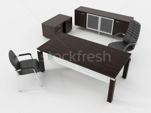 Ufficio lavoro lavoro desk mobili direttore Foto d'archivio © anyunoff