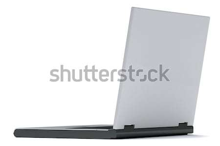 Cuaderno gris aislado blanco vista posterior negocios Foto stock © anyunoff