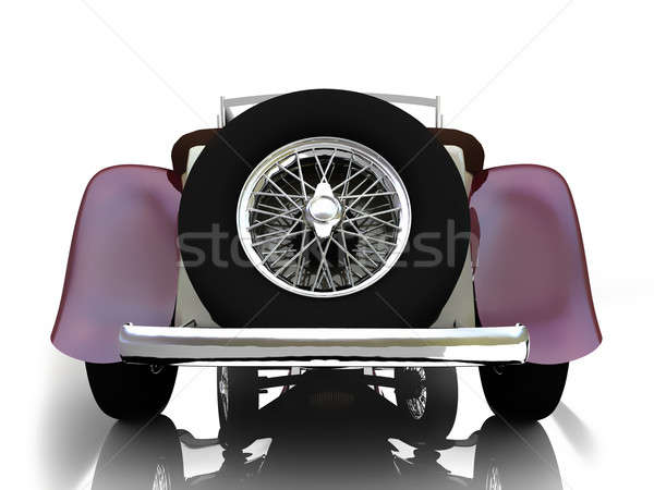 Stary samochód 3d odizolowany lustra płaszczyzny projektu Zdjęcia stock © anyunoff