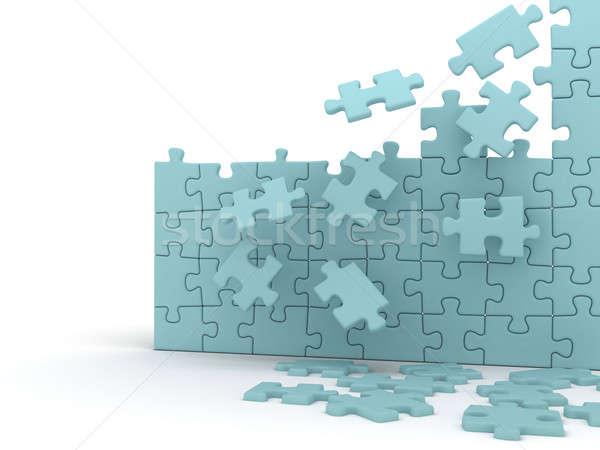 Puzzle rotto colore frame gruppo Foto d'archivio © anyunoff