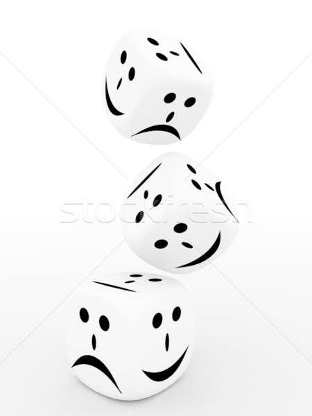 Jugando huesos aislado blanco casino negro Foto stock © anyunoff