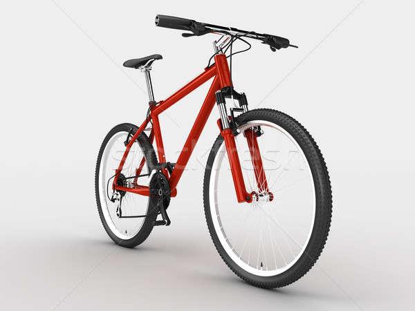 Bike rosso sport bicicletta isolato luce Foto d'archivio © anyunoff
