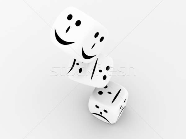 Jugando huesos gris casino negro éxito Foto stock © anyunoff