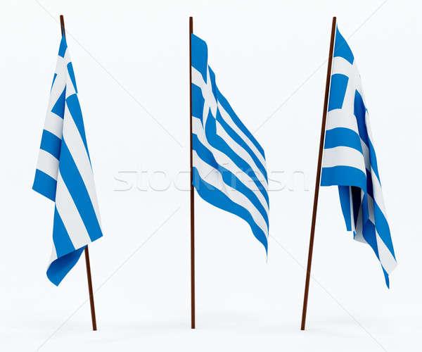 Bandera Grecia blanco cultura banner guardia Foto stock © anyunoff
