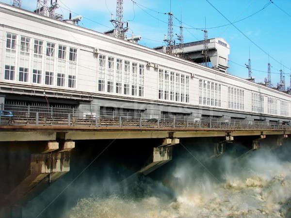 発電所 過剰 水 建設 滝 工場 ストックフォト © anyunoff