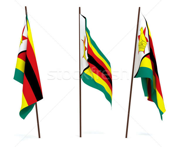 Flag of Zimbabwe Stock photo © anyunoff