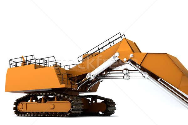 ストックフォト: オレンジ · 汚い · 孤立した · 白 · 携帯 · ワーカー