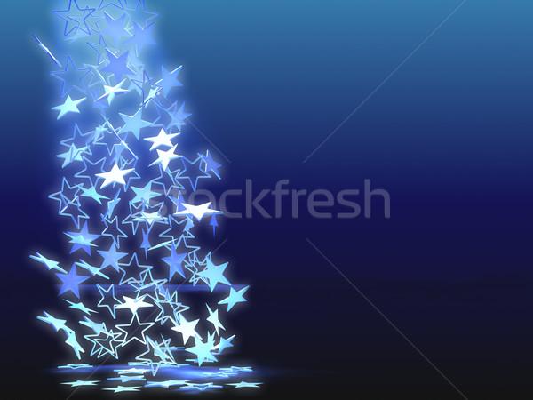 Caer azul claro estrellas resumen azul cielo Foto stock © anyunoff