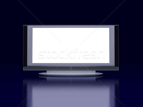 Сток-фото: телевизор · экране · полу · черный · футуристический · аннотация