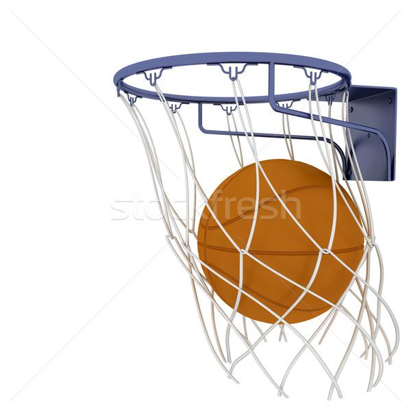 Basketbal twee geïsoleerd witte sport spelen Stockfoto © anyunoff