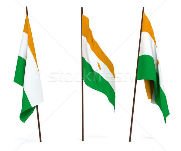 Bandeira Nigéria branco cultura objetos bandeira Foto stock © anyunoff