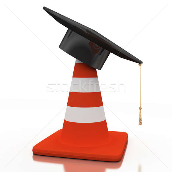 Bachelor's hat and cone Stock photo © anyunoff