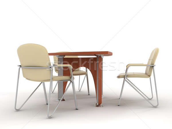 Oficina muebles establecer aislado luz Foto stock © anyunoff