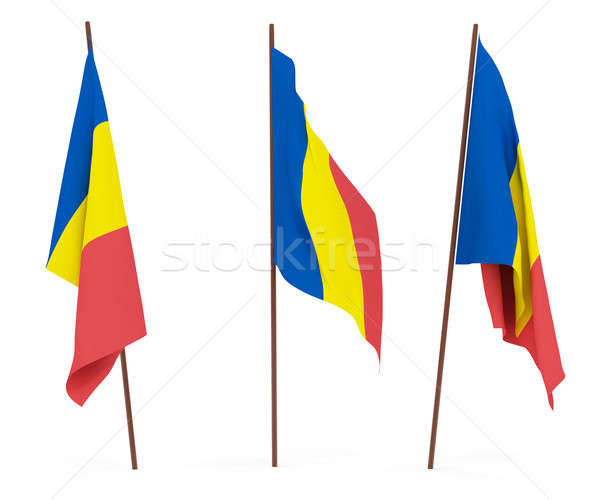 Bandera Chad blanco cultura banner guardia Foto stock © anyunoff