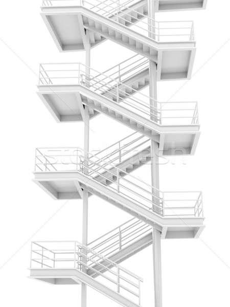 Basamak üst beyaz inşaat ev Stok fotoğraf © anyunoff