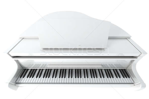 Hangversenyzongora fehér izolált fény zene billentyűzet Stock fotó © anyunoff