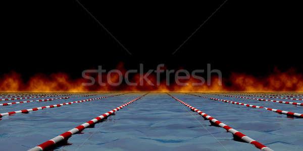 Swimming path Stock photo © anyunoff