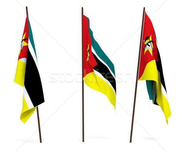 Bandera Mozambique blanco cultura objetos banner Foto stock © anyunoff
