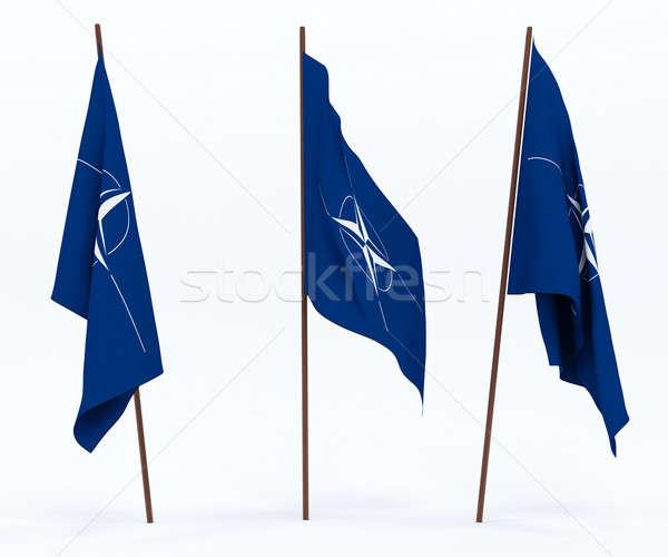 Vlag noorden verdrag organisatie witte cultuur Stockfoto © anyunoff