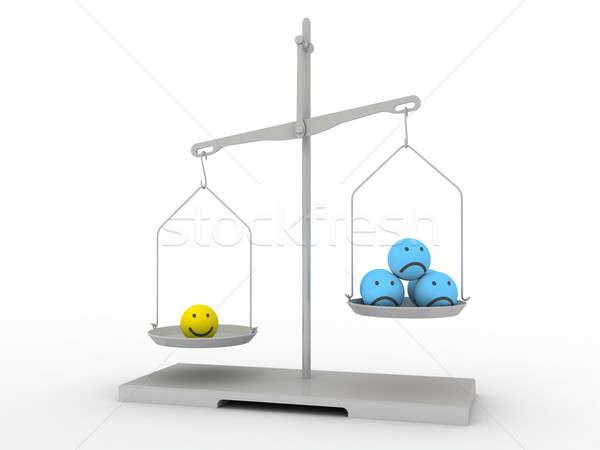 Stock photo: Smileys quick balance