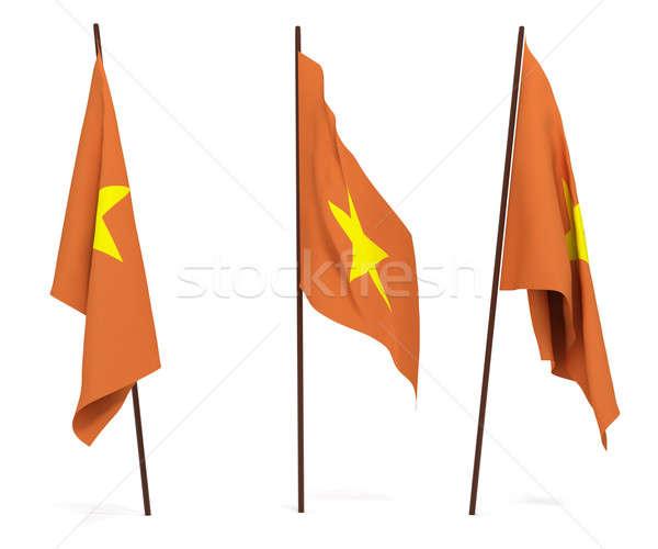 Bandera Vietnam blanco cultura objetos banner Foto stock © anyunoff