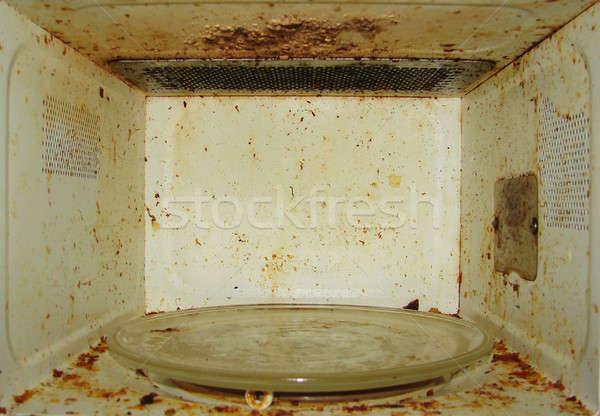 電子レンジ 汚い 塗料 壁 料理 ツール ストックフォト © anyunoff