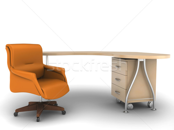 Chaise de bureau bureau travaux table travail président Photo stock © anyunoff