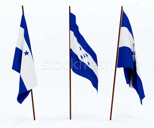 Bandeira Honduras branco cultura objetos bandeira Foto stock © anyunoff