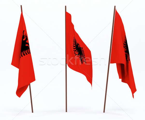 Flag of Albania Stock photo © anyunoff