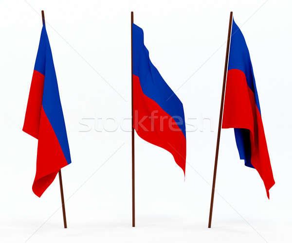 Bayrak Haiti beyaz kültür nesneler afiş Stok fotoğraf © anyunoff