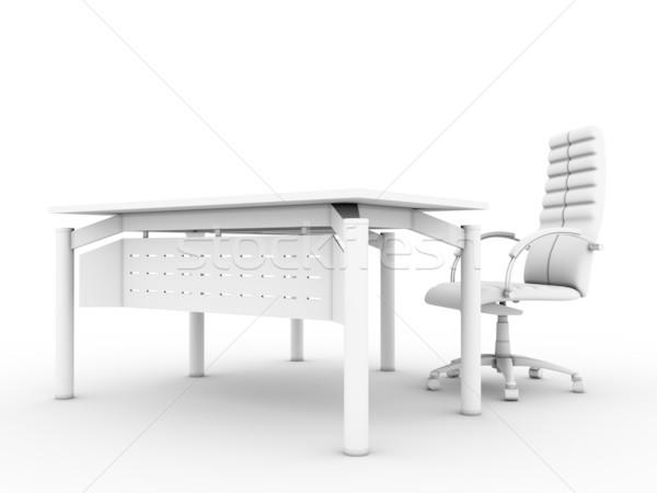 Oficina muebles establecer aislado blanco grupo Foto stock © anyunoff