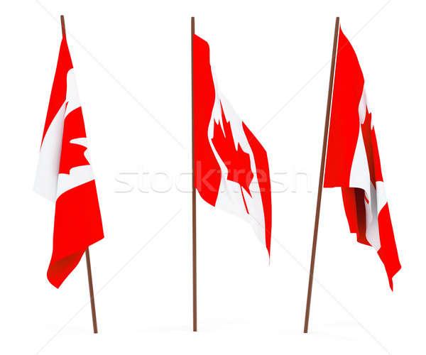 Bandera Canadá blanco cultura banner guardia Foto stock © anyunoff