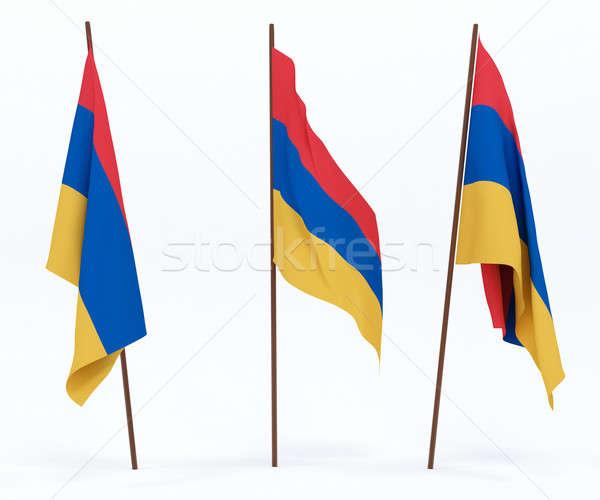 フラグ アルメニア 白 文化 バナー ガード ストックフォト © anyunoff