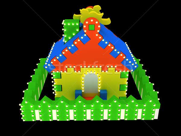 Сток-фото: игрушку · дома · черный · изолированный · свет