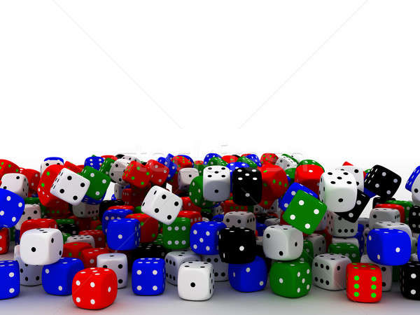 Playing dices Stock photo © anyunoff