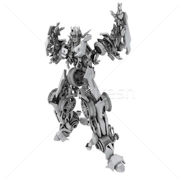 ロボット 孤立した 白 3dのレンダリング 技術 おもちゃ ストックフォト © anyunoff