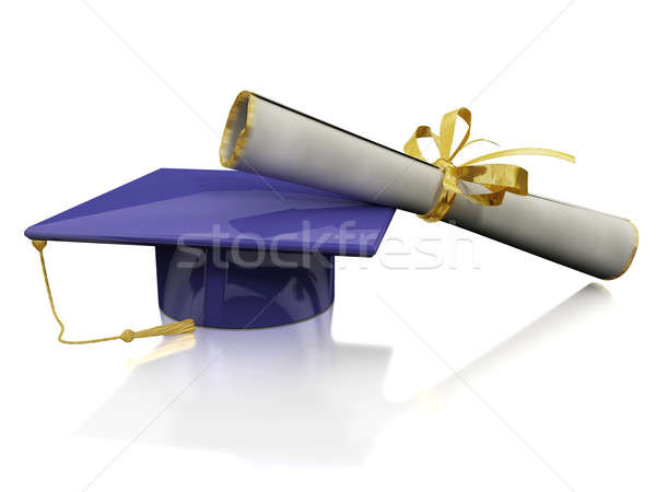 Diploma of a bachelor Stock photo © anyunoff