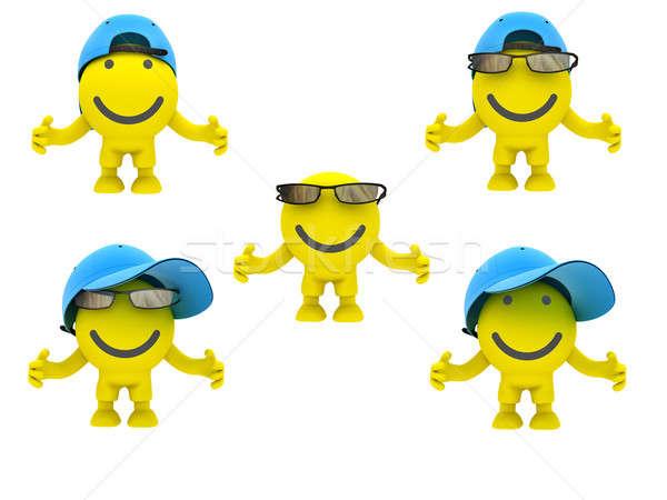 Gafas amarillo color sonriendo alegría Foto stock © anyunoff