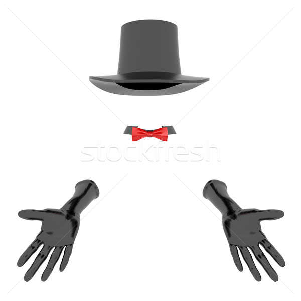 magician hat and gloves Stock photo © anyunoff