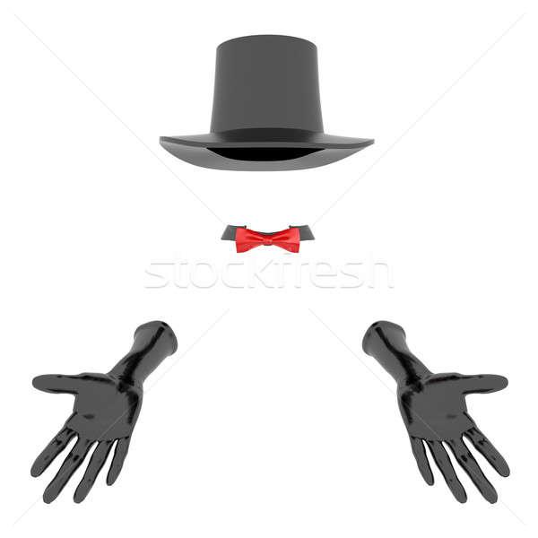 Mago Hat guanti nero bianco teatro Foto d'archivio © anyunoff