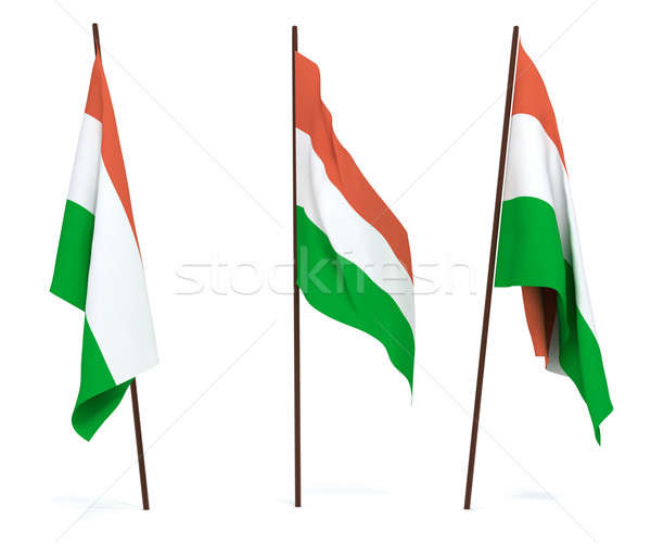 флаг Венгрия белый баннер гвардии символ Сток-фото © anyunoff