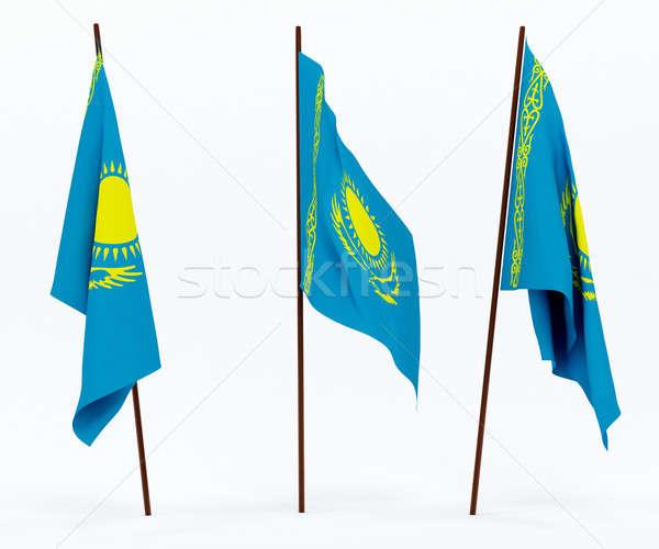 флаг Казахстан белый культура баннер гвардии Сток-фото © anyunoff