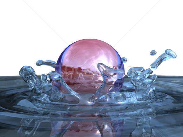 Agua salpicaduras 3d blanco pelota ola Foto stock © anyunoff