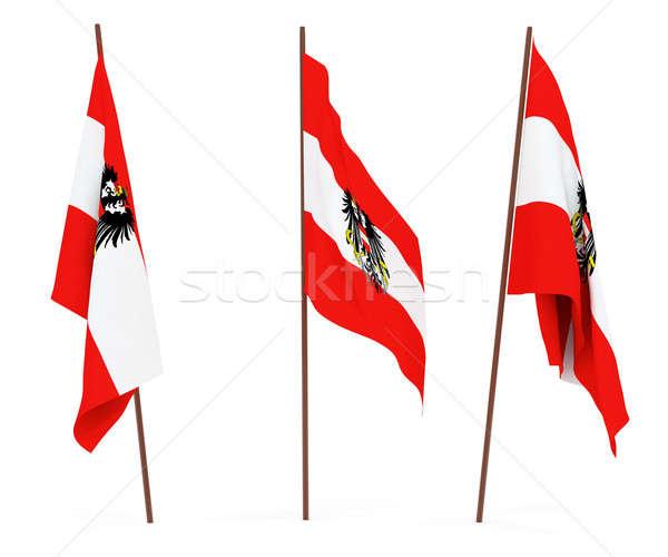 Bandiera Austria bianco cultura banner guardia Foto d'archivio © anyunoff