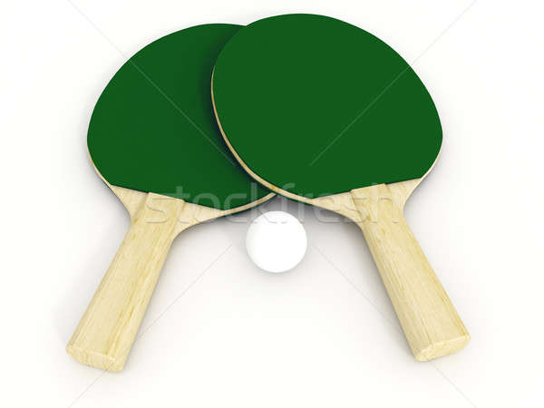 ping pong racket Stock photo © anyunoff