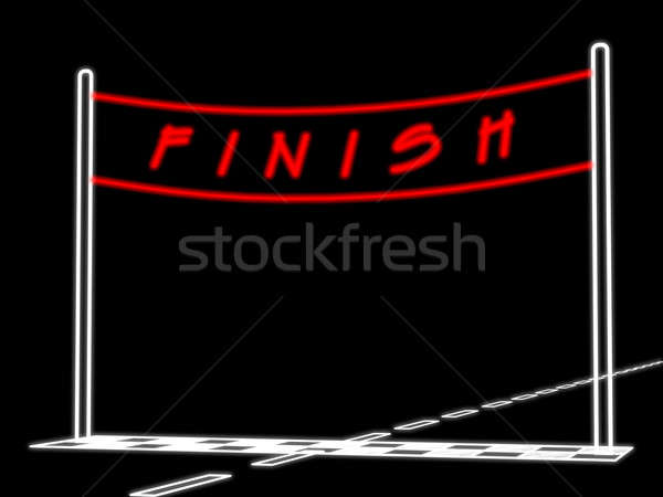 Conditional picture of an auto racing Stock photo © anyunoff