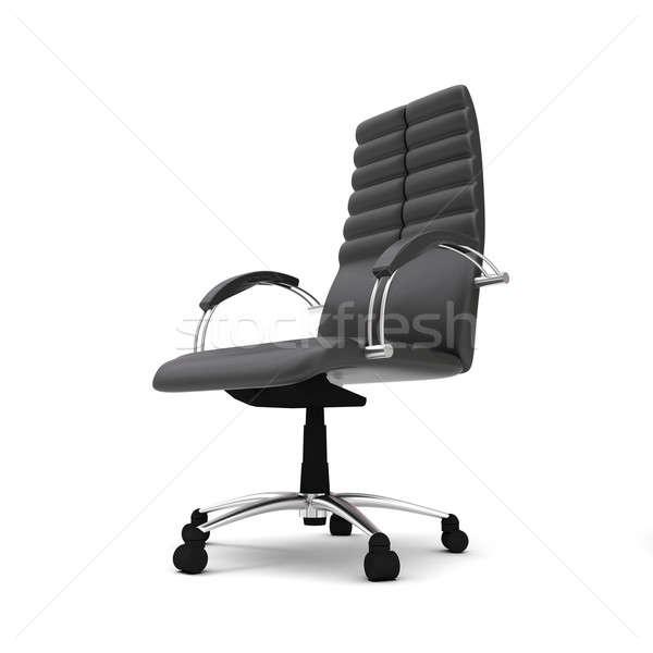 Silla de oficina uno aislado blanco oficina silla Foto stock © anyunoff