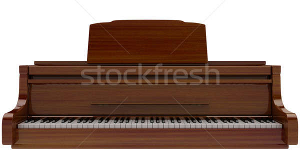 Hangversenyzongora barna izolált fény zene billentyűzet Stock fotó © anyunoff