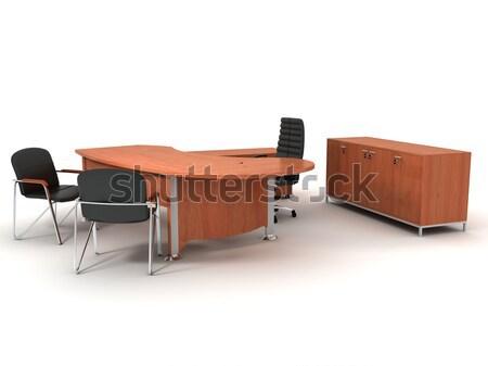 Ofis mobilya ayarlamak yalıtılmış beyaz Stok fotoğraf © anyunoff